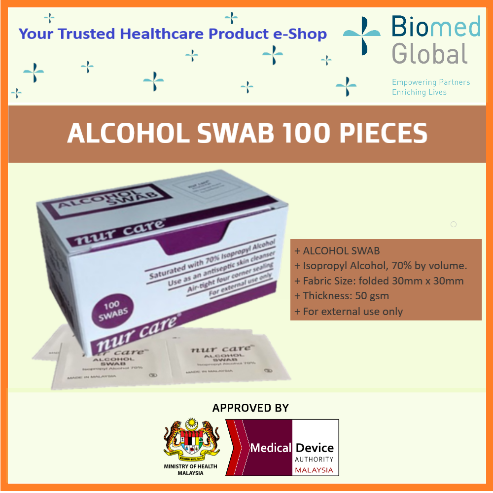 ALCOHOL SWABS, 100 PIECES/BOX