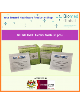Sterilance Alcohol Swabs (Pre-Pads), 50 pieces, 25 pieces/box, Pack of 2 boxes